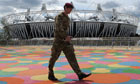 A soldier at the Olympic Park