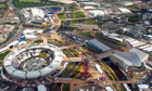 Aerial view of the Olympic Park