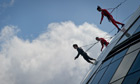 Streb dancers perform Skywalk at London's City Hall