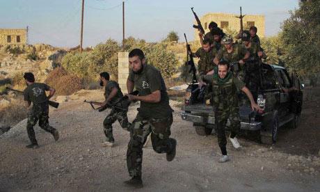 Free Syrian Army soldiers in Idlib