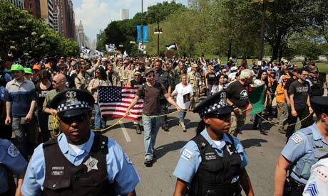 Demonstrators Protest The NATO Summit In Chicago
