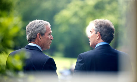 George Bush and Tony Blair, pictured at the White House
