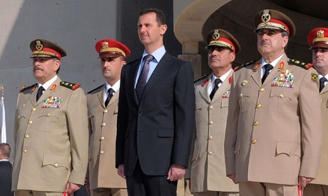 Bashar Assad, Dawoud Rajha, Fahed al-Jasem el-Freij