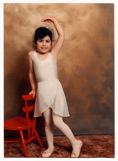 Amy Winehouse: Amy Winehouse dressed in a ballet outfit in 1988