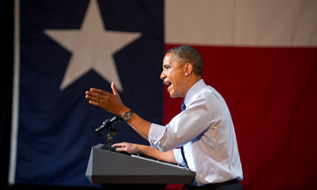 President Barack Obama campaigns in Texas