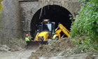 Tunnel landslide deaths
