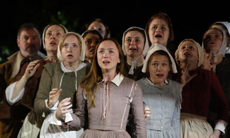 Group of women in Arthur Miller's The Crucible