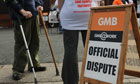 Remploy workers stage strike