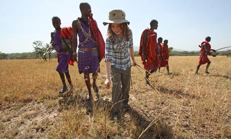 Maasai looking for lost arrows