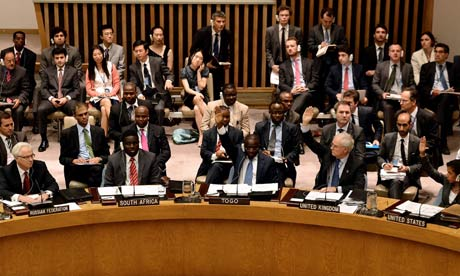 United Nations Security Council meets about