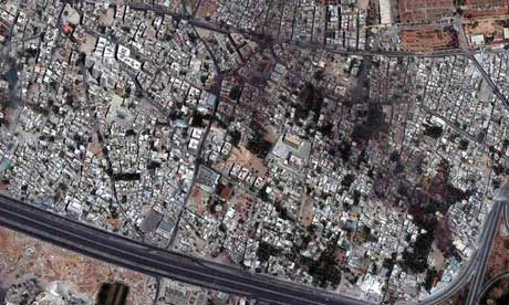 The Qabun neighborhood in Damascus where Syrian rebels have clashed