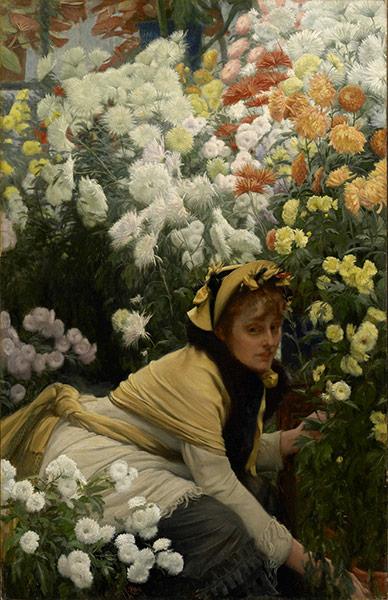 Taste for Impressionism: Chrysanthemums by James Tissot