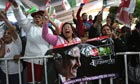 Supporters cheer Enrique Pena Nieto at his victory speech, Mexico