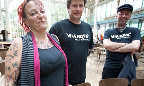Homeless performers at Royal Opera House