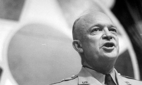 General Dwight D Eisenhower speaking during Air Force Association dinner, 1947
