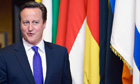 David Cameron in Brussels