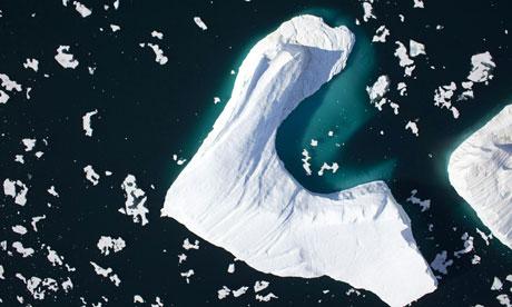 Iceberg calved from Petermann Glacier, Greenland, in 2009