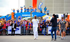 Phillips Idowu with the Olympic torch