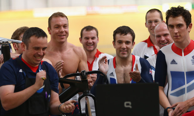 Chris Hoy and other Team GB cyclists