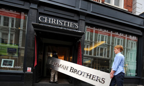 Lehman Brothers fascia goes on sale at Christie's