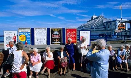 Pensioners at Brighton pier
