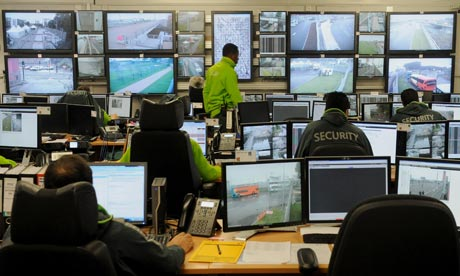 Olympics security control room