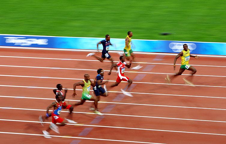 Usain Bolt London 2012 athletics Olympic Gold