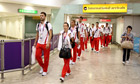 Olympics - London 2012 - Croatian Olympic Team Arrive at Heathrow Airport