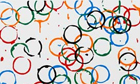 Olympic rings artwork