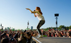 Katy B performs at the Olympic Torch Relay concert