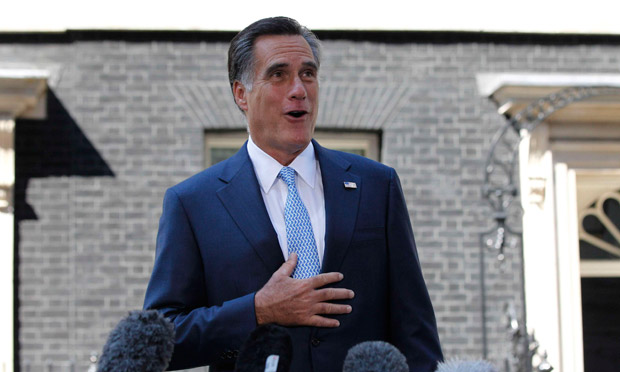 Mitt Romney in Downing Street