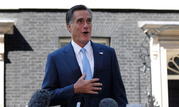 Mitt Romney in Downing Street