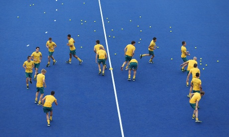 The Australian hockey team