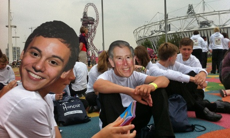 Children from York High School in masks ahead of the Olympic Opening ceremony