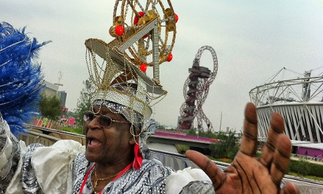 Participants arrive for the London 2012 opening ceremony