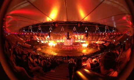 Dan Chung during the Olympic Opening Ceremony