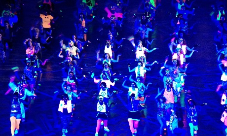 Dancers perform during the musical medley