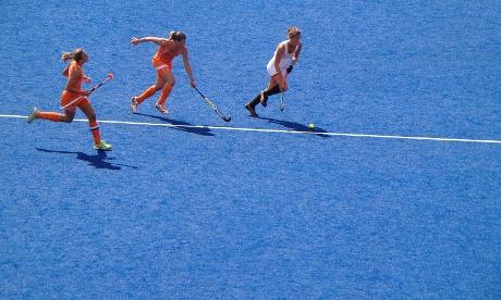 The Women's hockey at the Olympic stadium