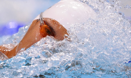 Marlo Montoya of Costa Rica in his heat of the mens 200m freestyle