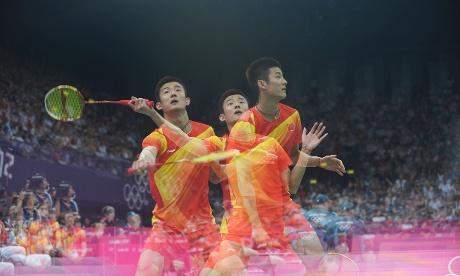China's Chen Long who beat Thailand's Boonsak Ponsana  at Badminton