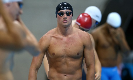 Ryan Lochte of the United States prepares to compete in the Men's 200m Freestyle semi final