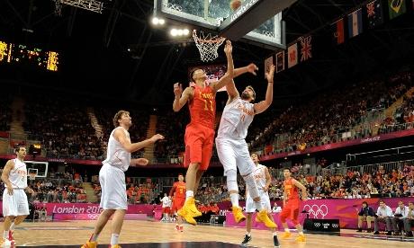 Men's basketball China's Yi Jianlian and Spain's Marc Gasol