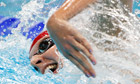 Rebecca Adlington of Britain swims in the women's 400m freestyle final