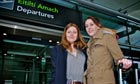 Stacey Dooley, Ciara Costello at Dublin airport in Coming Here Soon