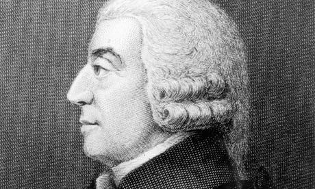 The Scottish political economist and philosopher Adam Smith