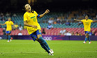 Brazil striker Marta celebrates goal