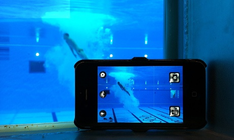 Shooting the Men's 10m platform diving with the IPhone