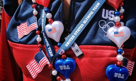A team USA supporter in the Olympic park