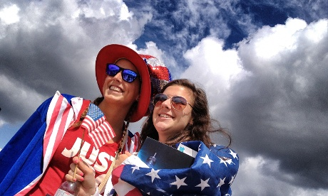 Team USA supporters in the Olympic park