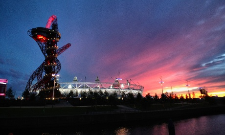 Sunset over the Olympic park
